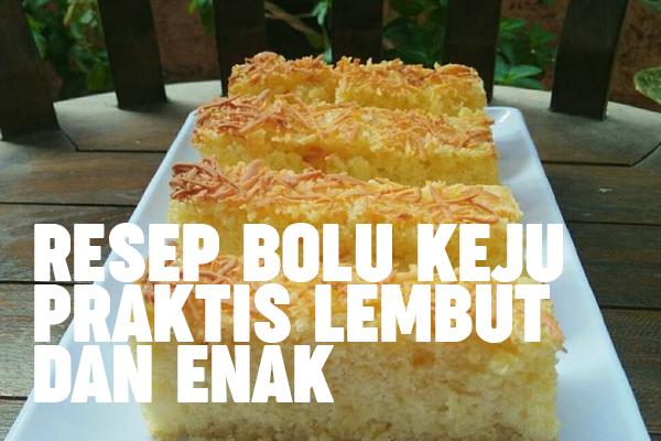 kue bolu keju praktis di atas piring