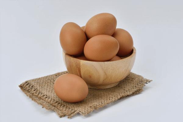 telur dalam wadah