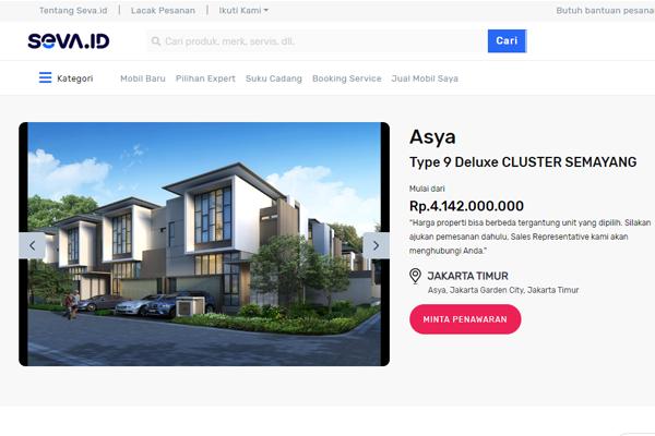 layanan jual properti rumah dan apartemen di seva.id