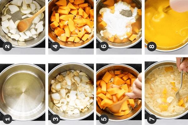 membuat sup labu kuning