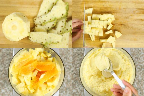 membuat sorbet buah nanas jeruk