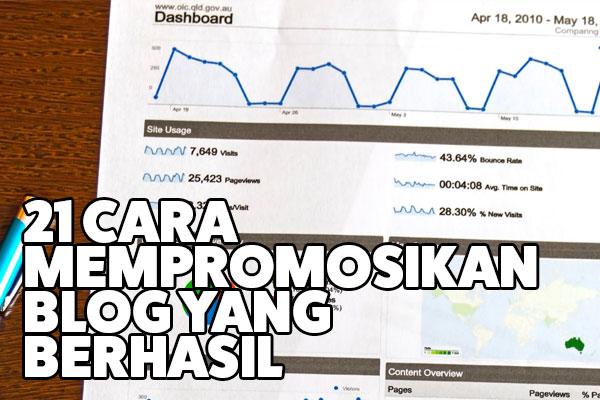 cara sukses mempromosikan blog baru