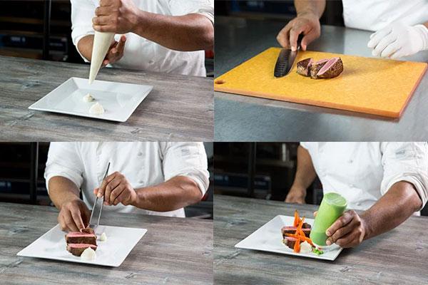 plating makanan gaya free form