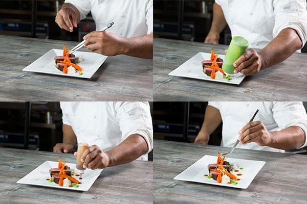 free form plating makanan