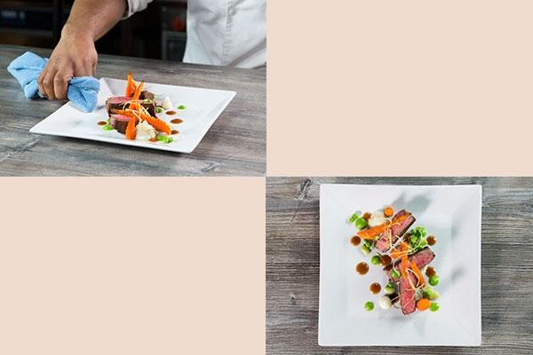 free form food plating
