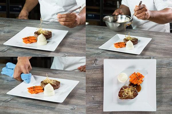 platting makanan gaya classic