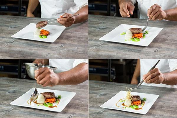 plating makanan gaya landscape