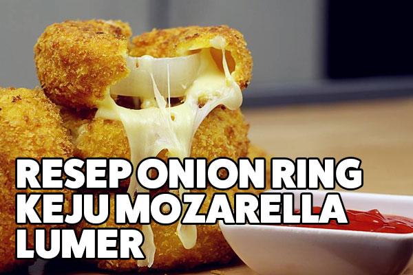 resep onion ring keju mozarella