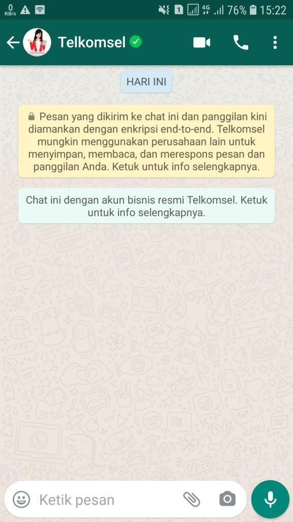 tanya veronika asisten virtual di WhatsApp